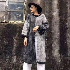 Tulander - Color Block chunky Knit Long Sweater