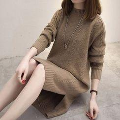 Little Lamb - 麻花针织连衣裙