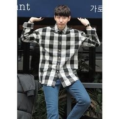 GERIO - Long-Sleeve Gingham Shirt