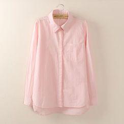 Tangi - 长袖纯色衬衫