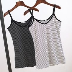 Lacyland - Striped Camisole Top
