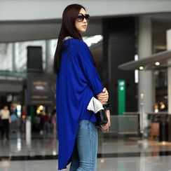 SO Central - Batwing-Sleeve Dip-Back Cardigan