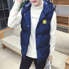qiaqiayes - Hooded Padded Vest