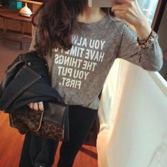 QZ Lady - Lettering Long-Sleeve T-Shirt