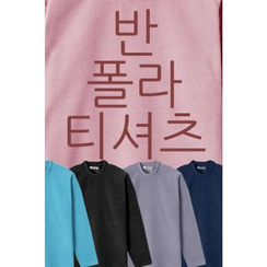 Ohkkage - Colored Mock-Neck T-Shirt