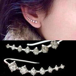 MOMENT OF LOVE - Rhinestone Ear Climber Earrings