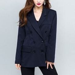 chuu - Notched-Lapel Double-Breasted Jacket