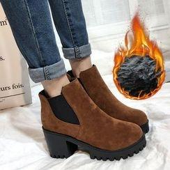 BARCA - Platform Block Heel Chelsea Boots