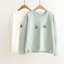 Musume - Embroidery Long-Sleeve Top