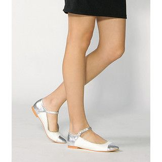yeswalker - Metallic Mary Jane Flats