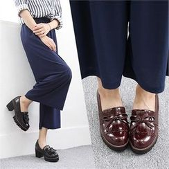 Reneve - Chunky-Heel Tasseled Loafers