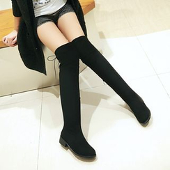 JY Shoes - Lace Up Back Over-the-knee Boots
