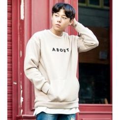 ABOKI - Lettering Appliqué Sweatshirt