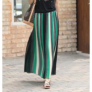 REDOPIN - Pinstripe Maxi Skirt