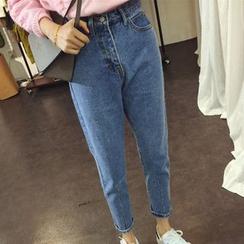 Iscat - 短款哈伦裤牛仔裤