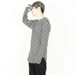Rememberclick - Long-Sleeve Stripe T-Shirt