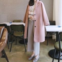 Hello sweety - Wool Blend Handmade Coat