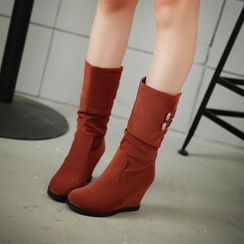 Pangmama - Hidden Wedge  Scrunched Riding Boots