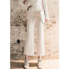 Chlo.D.Manon - Tab-Side High-Waist Dress Pants