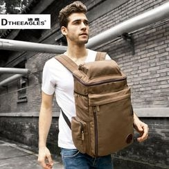 DtheEagles - Contrast-Zip Canvas Backpack