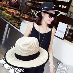 SHUMI - Straw Fedora Hat