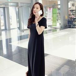 REDOPIN - Short-Sleeve Maxi Dress