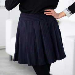 59 Seconds - Striped Pleated Skirt