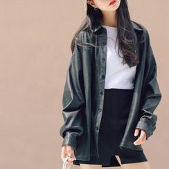 Porta - Faux Leather Jacket