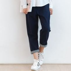 Forest Girl - Straight-Cut Cropped Jeans