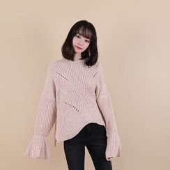 Vintage Vender - Oversized Pointelle-Knit Sweater