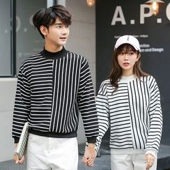 Azure - Couple Matching Striped Pullover