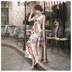 Janelle Qipao - 复古优雅长款修身真丝旗袍