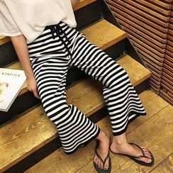 Jolly Club - Striped Wide-Leg Pants