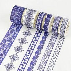 Homey House - 青花瓷图案美纹纸胶带