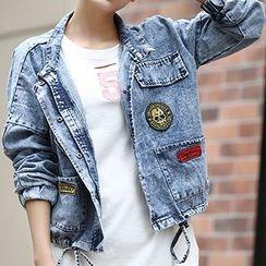 Yohana - Applique Denim Jacket