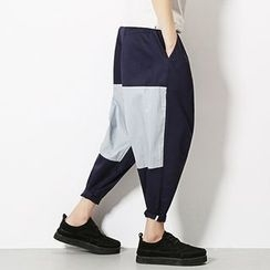 Telvi - Two-Tone Harem Pants
