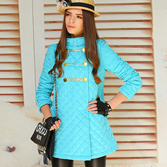 Dabuwawa - Double-Buttoned Quilted Coat