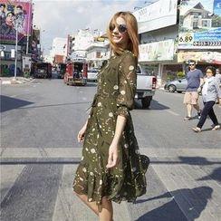 Romantica - 3/4-Sleeve Printed Dress