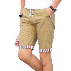 RUYA - Drawstring Printed Shorts