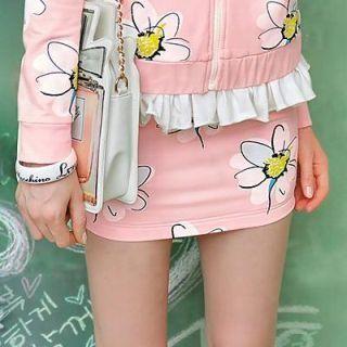 Dabuwawa - Daisy-Print Miniskirt