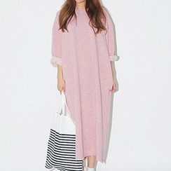 Eva Fashion - Long-Sleeved Terry Dress