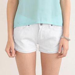 SO Central - Distressed Denim Shorts