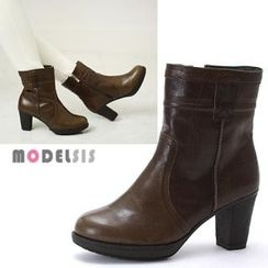 MODELSIS - Genuine Leather Ankle Boots