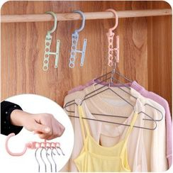 Eggshell Houseware - 5-Hole Space-Saving Hanger