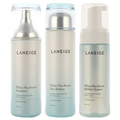 Laneige - White Plus Renew Triple Set : Skin Refiner 120ml + Emulsion 100ml + Bubble Cleanser 150ml