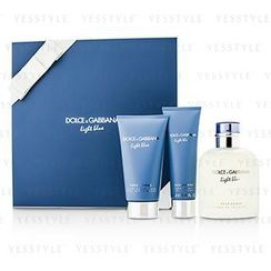 Dolce & Gabbana - Homme Light Blue Coffret: EDT Spray 125ml/4.2oz + After Shave Balm 75ml/2.5oz + Shower Gel 50ml/1.6o