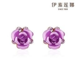 Italina - Rhinestone Flower Earrings