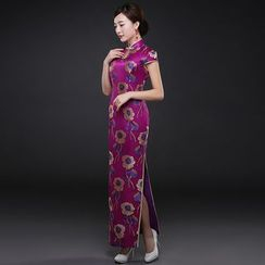 Royal Style - Floral Print Wedding Cheongsam