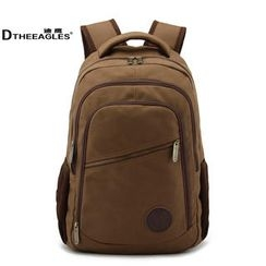 DtheEagles - Contrast-Trim Canvas Backpack