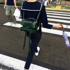Secret Garden - Long Bow-Accent PU Backpack